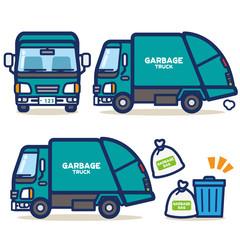 はたらく乗り物 ゴミ収集車(グリーン系)