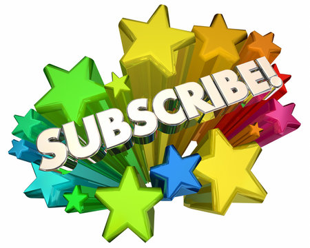 Subscribe Stars New Service Subscription 3d Render Illustration