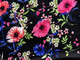 Pattern flowers textured on cloth fabric.