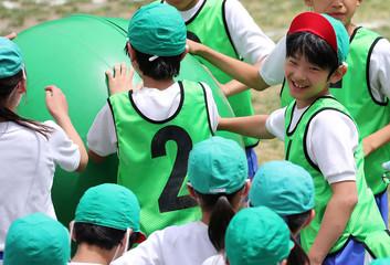 Prince Hisahito, the only son of Prince Akishino and Princess Kiko, participates at a sports meeting in Tokyo