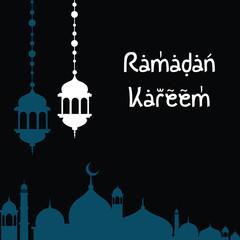 Ramadan Kareem Background. Vector. greetings in Arabic script. An Islamic greeting card for holy month art