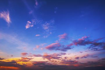 beautiful sky twilight after sunset