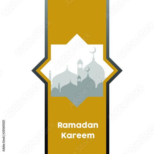 Ramadan kareem background vector greetings in arabic script an vector greetings in arabic script an islamic greeting card for m4hsunfo