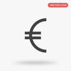 Euro icon isolated on white background