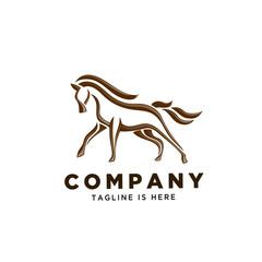 Stand elegant horse logo art
