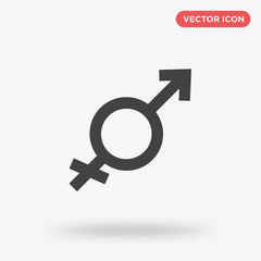 Gender icon isolated on white background
