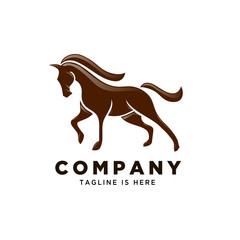 simple stand horse logo