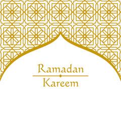 Ramadan Kareem Background. Vector. greetings in Arabic script. An Islamic greeting card for holy month art.