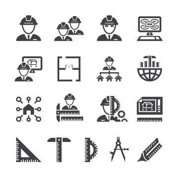 Architect icon set