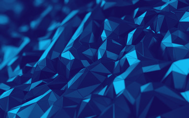 3D Abstract hexagonal polygonal low poly triangular high resolution futuristic green, yellow energetic background wallpaper