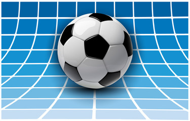 Football background, 3d vector with soccer ball.