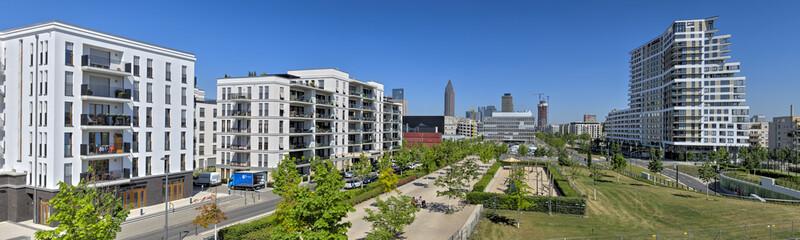 Neubaugebiet im Europaviertel von Frankfurt am Main