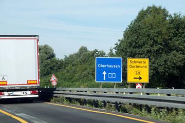 Autobahn 2, Dortmund Nordost, Baustelle