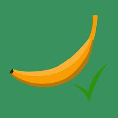 Color Banana fruit icon. Modern simple flat vegetarian sign. Eco food internet concept. Logo illustration