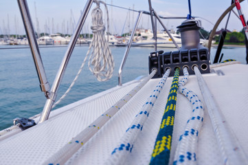 rigging on a yacht