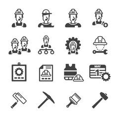 Labour icon set