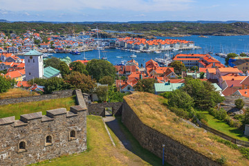View from the fortress over Marstrand on the Swedish west coast