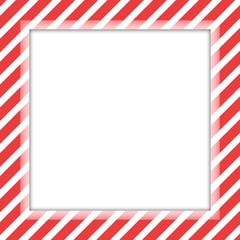 Striped red border frame with empty space for your text and image.