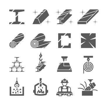 Steel,Metal icon set