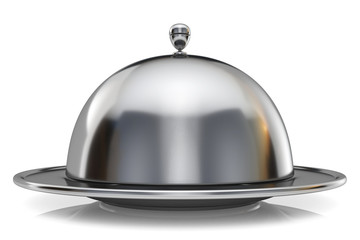 Metal restaurant cloche 3D