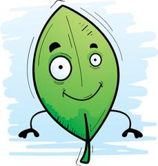 Cartoon Leaf Smiling