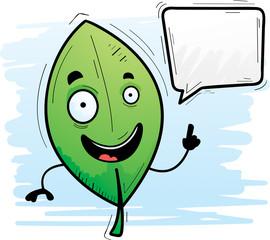 Cartoon Leaf Talking