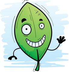 Cartoon Leaf Waving