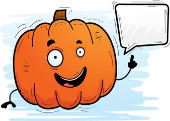 Cartoon Pumpkin Talking