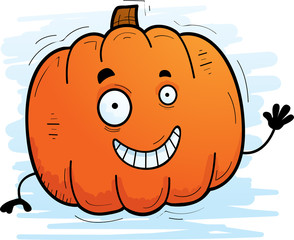 Cartoon Pumpkin Waving