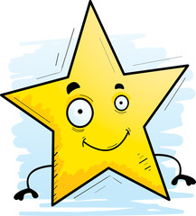 Cartoon Star Smiling
