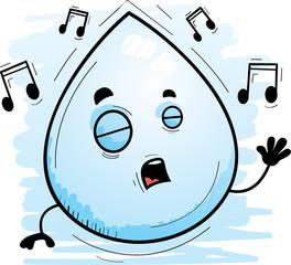 Cartoon Waterdrop Singing