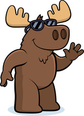 Cartoon Moose Sunglasses