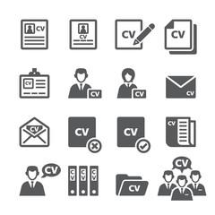 CV icon set