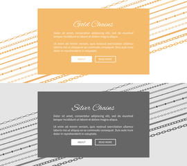Silver and Gold Chains Web Pages with Push Buttons