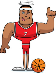 Cartoon Drunk Basketball Player