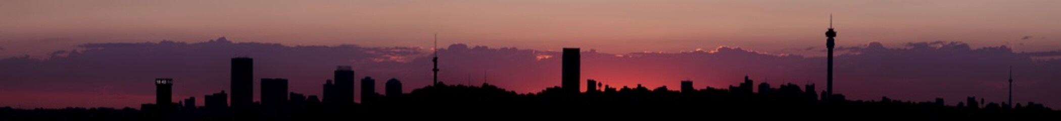 Sunset Johannesburg city