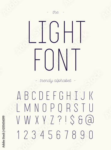 Vector Light Font Alphabet Modern Typography Sans Serif Colorful Style For Party Poster Printing