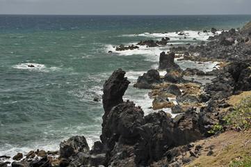 The coast of the island of Saint Kitts