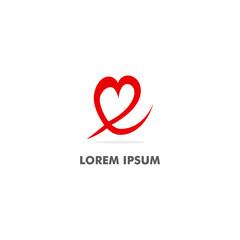 love heart vector logo