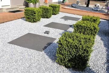 Foto op Plexiglas Tuin Modern front garden