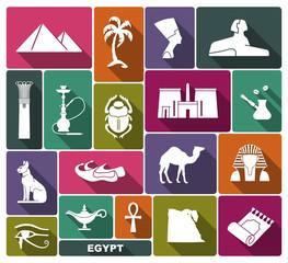 Egyptian symbols. Vector icon