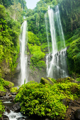Sekumpul waterfall in Bali surrounded by beautiful tropical forest