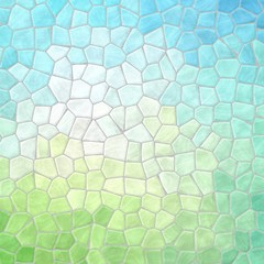 abstract nature marble plastic stony mosaic tiles texture background with gray grout - spring soft pastel blue and green colors