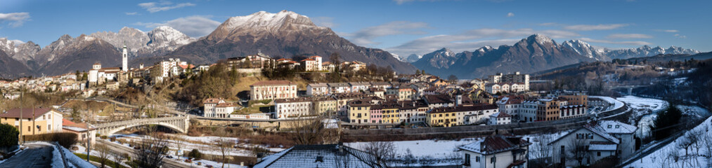 Winter panorama of Belluno