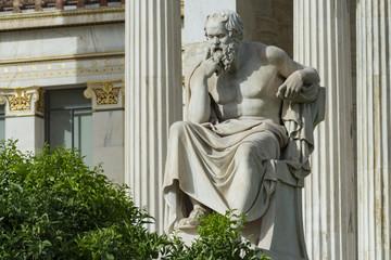 Aluminium Prints Historic monument classic statue Socrates