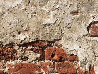 Old Crashed Brick Wall Texture Background