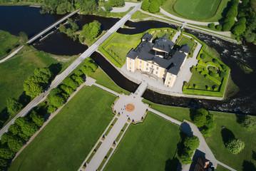 Stromsholm castle aerial view