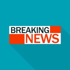 Breaking news logo. Flat illustration of breaking news vector logo for web design