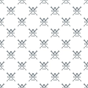 Baseball club pattern vector seamless repeat for any web design
