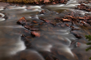Long exposure river close up